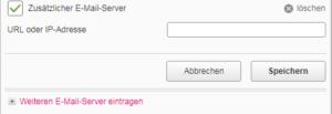 Zusätzliche E-Mail Server eintragen Speedport
